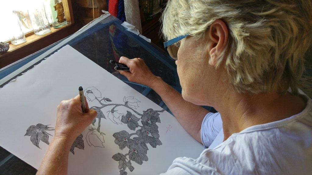 Rafferty in her Spring Creek studio, Narrabri